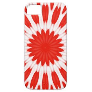 Estampado de flores rojo y blanco iPhone 5 protectores