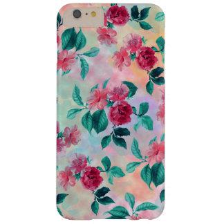 Estampado de flores romántico hermoso de los rosas funda de iPhone 6 plus barely there