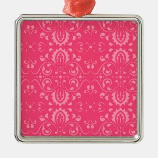 Estampado de flores rosado brillante ornamentos de reyes