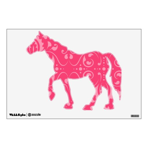 Estampado de flores rosado brillante vinilo adhesivo