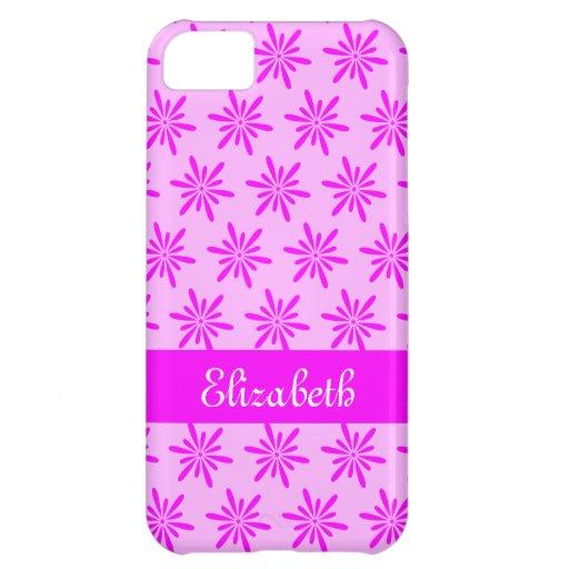 Estampado de flores rosado - caso conocido del iPh Funda Para iPhone 5C