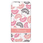 Estampado de flores rosado coralino de Brown