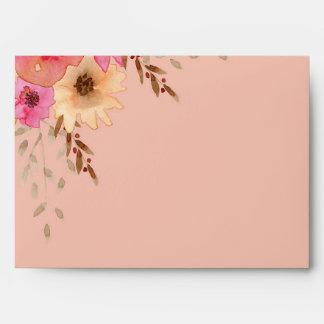 Estampado de flores rosado de la acuarela sobre