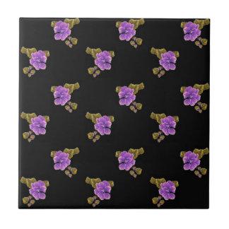 Estampado de flores rosado de las violetas azulejos ceramicos
