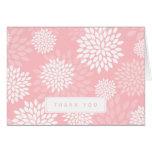 Estampado de flores rosado de los crisantemos tarjetas