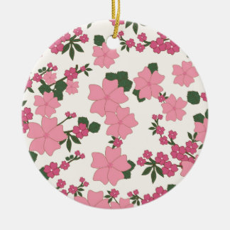 Estampado de flores rosado ornamento para reyes magos