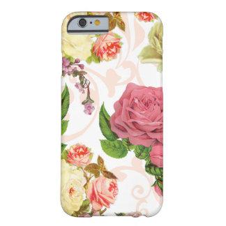 Estampado de flores rosado del vintage de los
