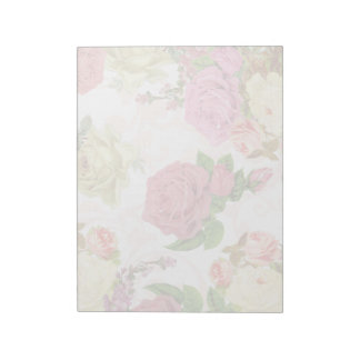 Estampado de flores rosado del vintage de los rosa bloc de notas