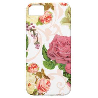 Estampado de flores rosado del vintage de los rosa iPhone 5 fundas