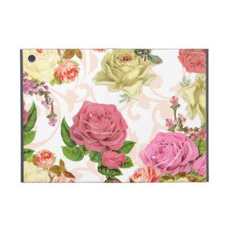 Estampado de flores rosado del vintage de los rosa iPad mini carcasas