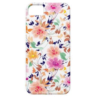 Estampado de flores rosado dulce colorido funda para iPhone SE/5/5s