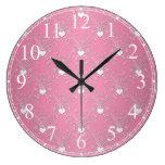 Estampado de flores rosado dulce del damasco de lo reloj