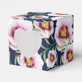 Estampado de flores rosado dulce del vintage de la cajas para regalos de boda
