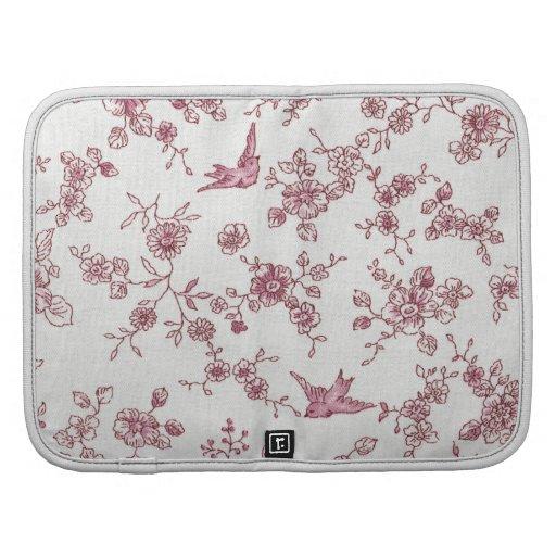 Estampado de flores rosado elegante lamentable de  planificadores