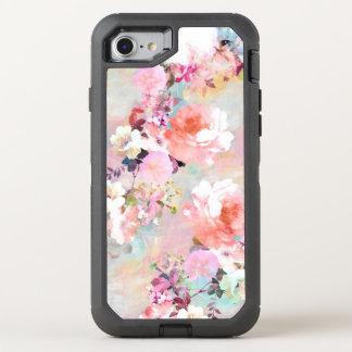 Estampado de flores rosado moderno de la moda de funda OtterBox defender para iPhone 7