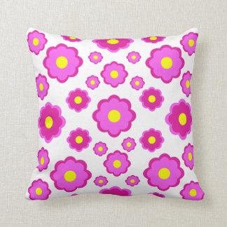 estampado de flores rosado moderno simple almohadas
