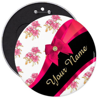 Estampado de flores rosado oscuro bonito del chapa redonda 15 cm