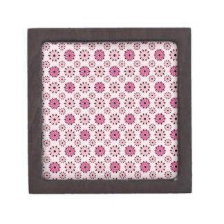 Estampado de flores rosado retro cajas de joyas de calidad
