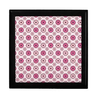 Estampado de flores rosado retro cajas de joyas
