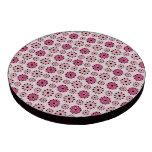 Estampado de flores rosado retro fichas de póquer