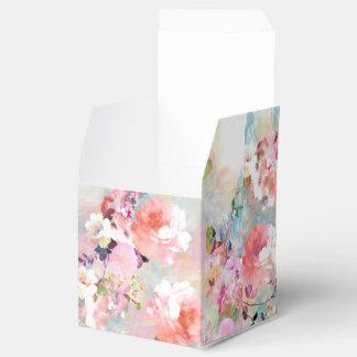 Estampado de flores rosado romántico de la moda de cajas para regalos de boda
