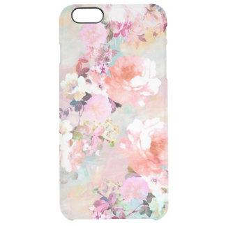 Estampado de flores rosado romántico de la moda de funda clearly™ deflector para iPhone 6 plus de unc