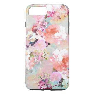 Estampado de flores rosado romántico de la moda de funda iPhone 7 plus