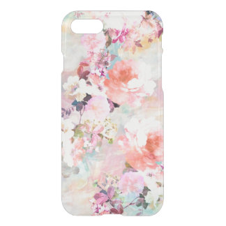Estampado de flores rosado romántico de la moda de funda para iPhone 7