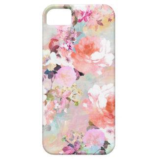 Estampado de flores rosado romántico de la moda de funda para iPhone SE/5/5s