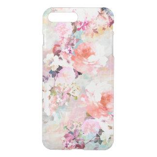 Estampado de flores rosado romántico de la moda de fundas para iPhone 7 plus