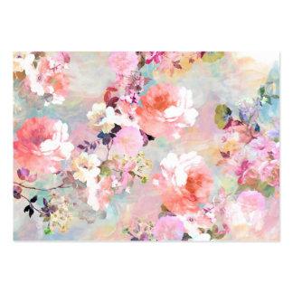 Estampado de flores rosado romántico de la moda de tarjetas de visita grandes