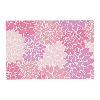 Estampado de flores rosado suave tapete individual