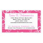 Estampado de flores rosado y blanco del hibisco tarjetas de visita