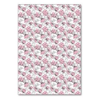 Estampado de flores rosado y gris femenino del vin