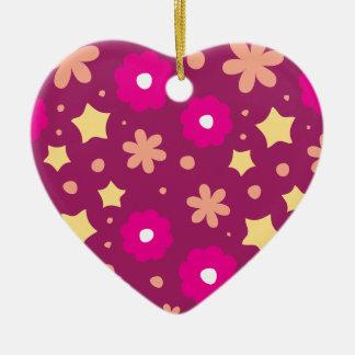 Estampado de flores rosado y púrpura sabroso ornamentos de reyes magos