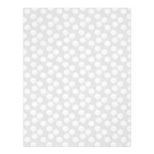 Estampado de flores simple elegante en gris claro. membrete personalizado