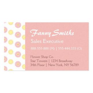 Estampado de flores simple, elegante tarjetas de visita