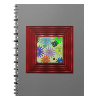 Estampado de flores simple (i) spiral notebook
