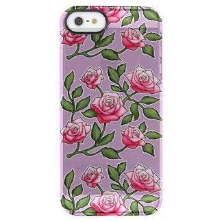Estampado de flores subió hierba de la lavanda funda clear para iPhone SE/5/5s