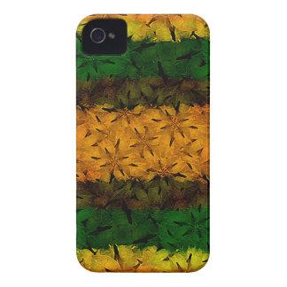 Estampado de flores tribal iPhone 4 cobertura