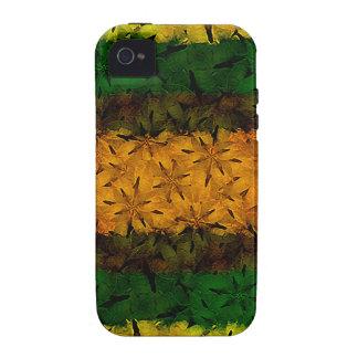 Estampado de flores tribal iPhone 4 carcasa