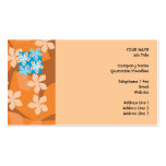 Estampado de flores tropical. Azul y naranja Plantillas De Tarjeta De Negocio