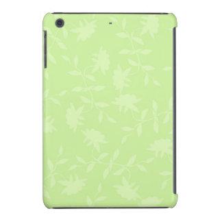 Estampado de flores tropical de la verde lima lige funda de iPad mini