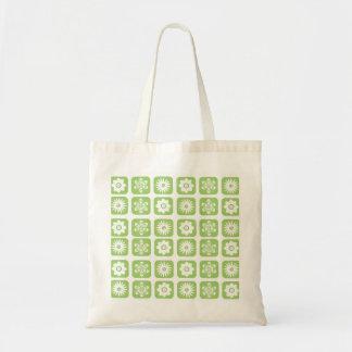 Estampado de flores verde bolsa tela barata
