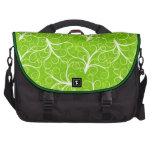 Estampado de flores verde bolsas para portátil