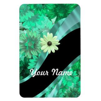 Estampado de flores verde bonito iman