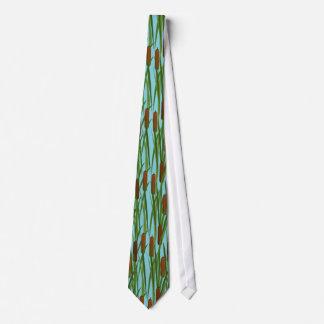 Estampado de flores verde de las colas de gato corbatas