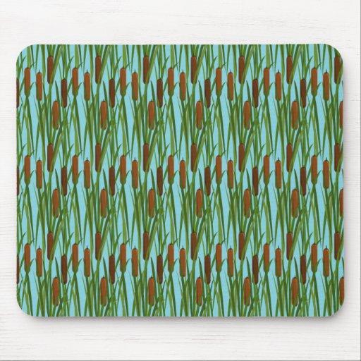 Estampado de flores verde de las colas de gato tapetes de raton