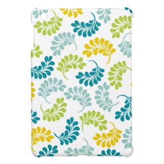 Estampado de flores verde del amarillo del trullo iPad mini cobertura