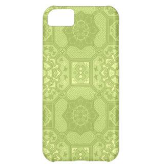 Estampado de flores verde del país del vintage de  funda iPhone 5C